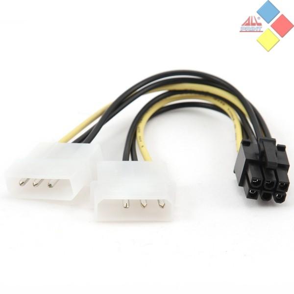 ADAPTADOR  ALIMENTACION 2 X MOLEX HEMBRA A PCI EXPRESS 6 PINS CABLEXPERT