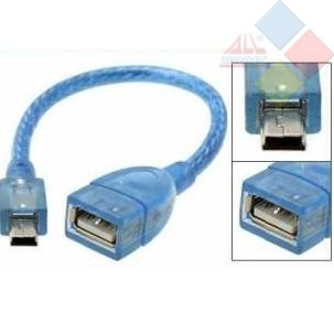 ADAPTADOR USB 2.0 5 PIN A CABLE USB OTG HEMBRA