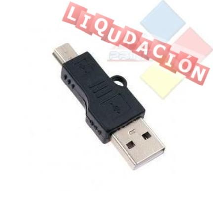 ADAPTADOR USB 2.0 TIPO A - MINI USB (5 PIN) ***LIQUIDACION***