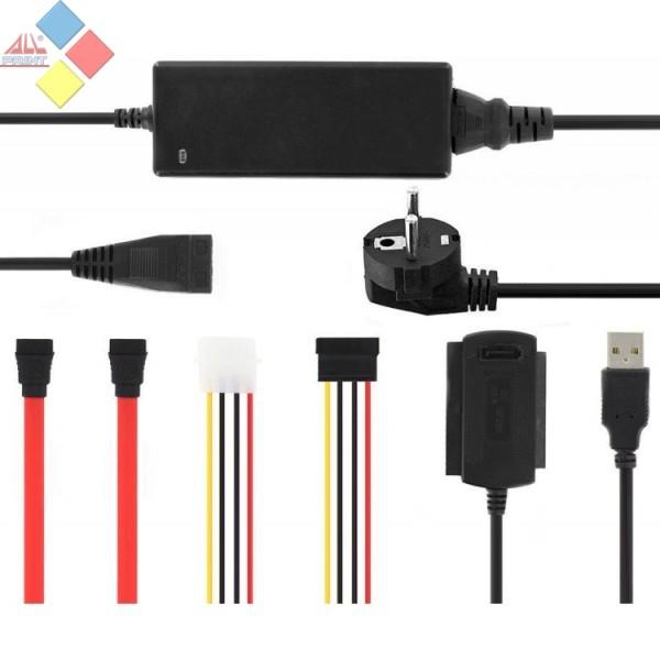 ADAPTADOR USB A IDE/SATA 2'5/3'5 CON ALIMENTACION