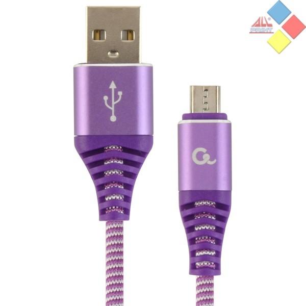 CABLE USB 2.0 CABLEXPERT TIPO A-MICRO USB 1M CARGA RAPIDA MORADO