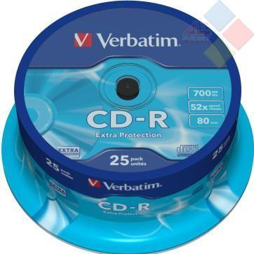 CD-R VERBATIM SPINDLE 25 52X