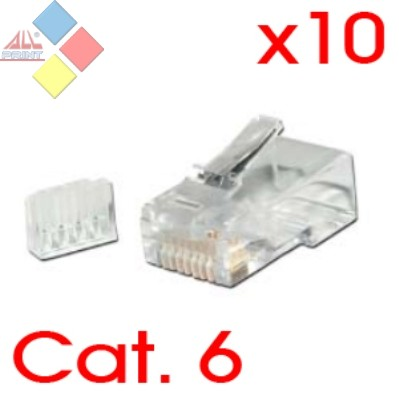CONECTOR RJ45 CAT.6 MACHO PACK 10 CABLEXPERT