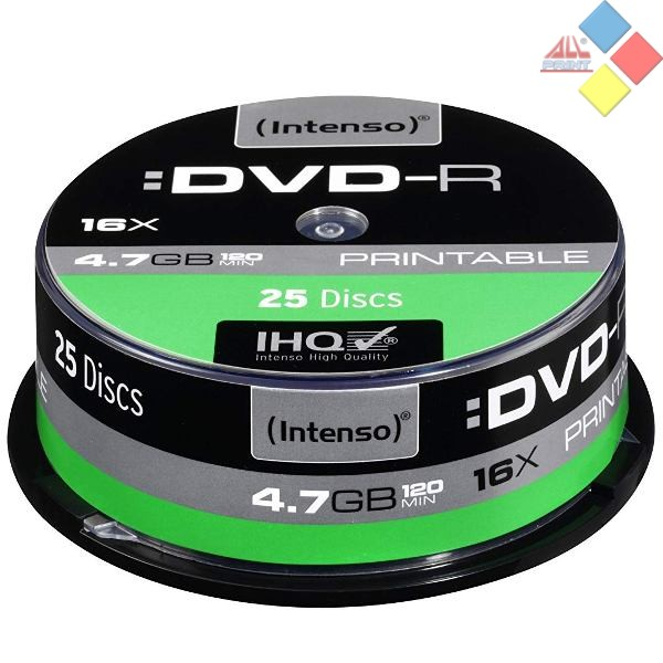 DVD-R INTENSO SPINDLE 25 16X PRINTABLE