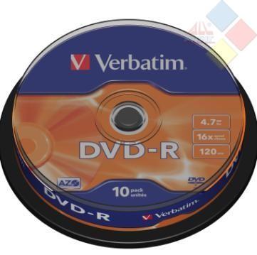 DVD-R VERBATIM SPINDLE 10 16X