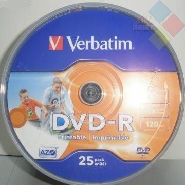 DVD-R VERBATIM SPINDLE 25 16X PRINTABLE