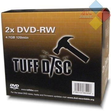 DVD-RW TUFF-DISC 2X CAJA JEWEL ***LIQUIDACION***