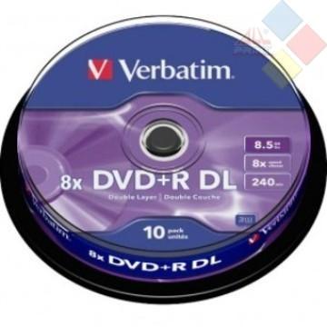 DVD+R DOBLE CAPA VERBATIM SPINDLE 10 8X
