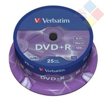 DVD+R VERBATIM SPINDLE 25 16X
