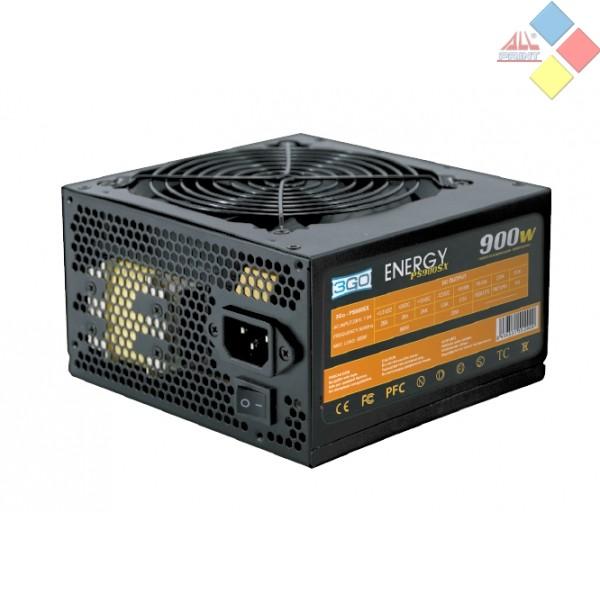 FUENTE ATX 3GO 900W PPFC SILENCIOSA PCIEX 6 + 2 PINES