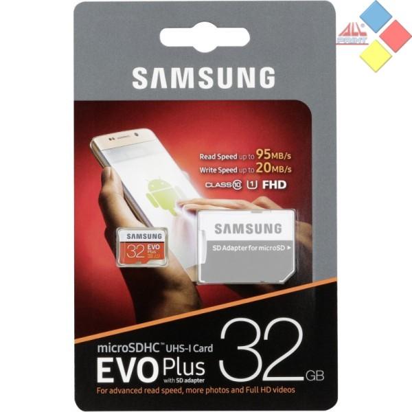 MEMORIA SAMSUNG MICRO SECURE DIGITAL SDHC 32GB C10 EVO PLUS + ADAPTADOR SD R95W20